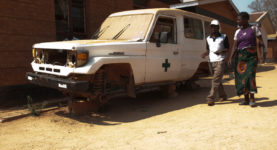 out of use ambulance at Rumphi District Hospital