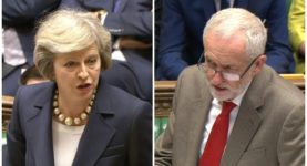 Theresa May Jeremy Corbyn PMQs