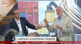 Owen Smith and Jeremy Corbyn BBC debate