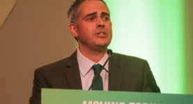 Caroline Lucas and Jonathan Bartley elected co-Leaders of the Green Party of England and Wales at the party's annual conference at University of Birmingham