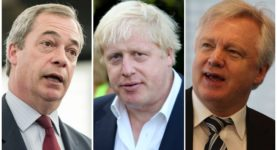 Brexit Nigel Farage Boris Johnson David Davis