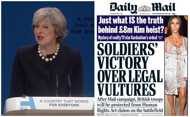 Theresa May Daily Mail