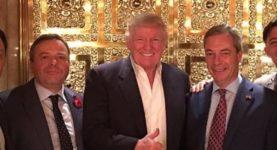 Arron Banks Donald Trump Nigel Farage