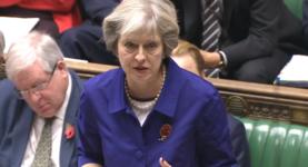 Theresa May Poppy PMQs