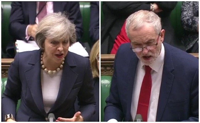 Image result for Corbyn gets better of May over social care