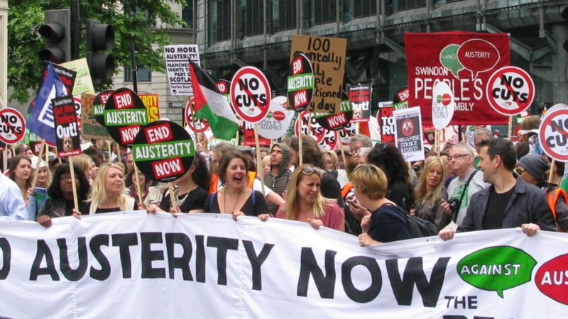 Thousands in London Protesting Against Austerity, UK Conservative Government