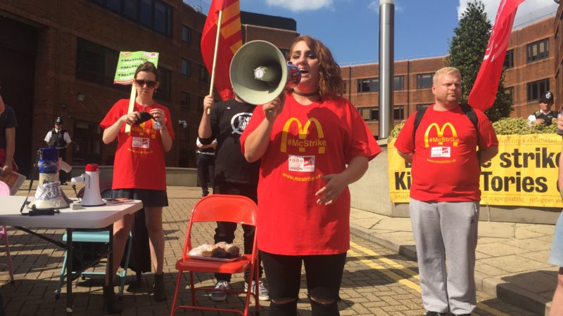 Will McDonald's staff across Tayside be taking part in the 'McStrike'?