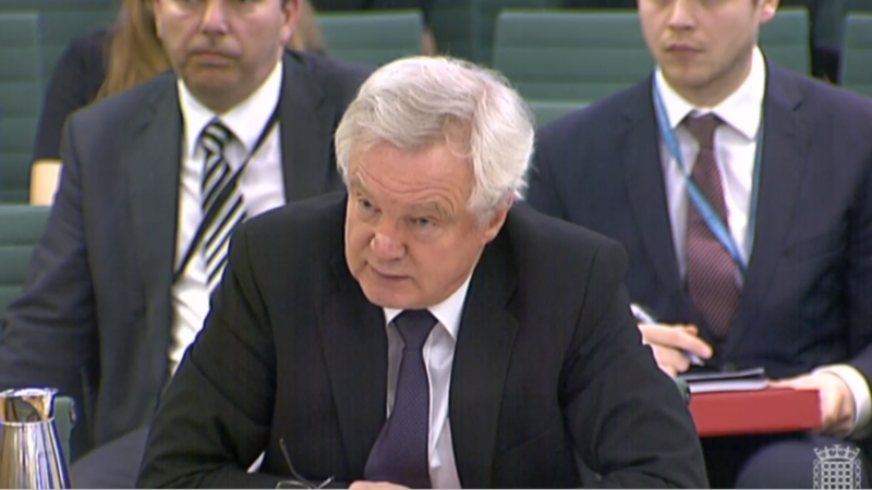 Davis expects agreed Brexit transition deal within 8 weeks