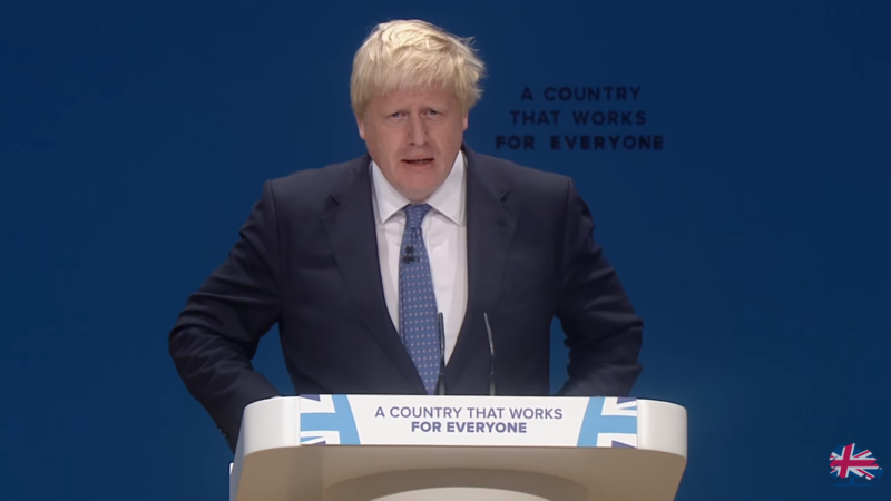 boris johnson speaks at event