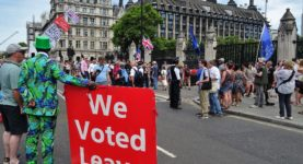 A picture from the July 24 protest against Boris Johnson