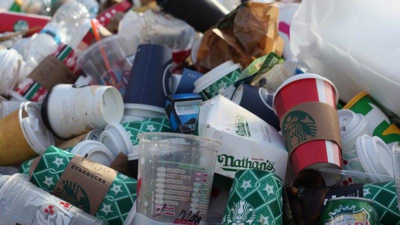 Plastic trash and rubbish
