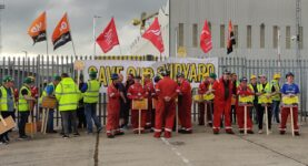 Unite and GMB workers at Harland & Wolff shipyard