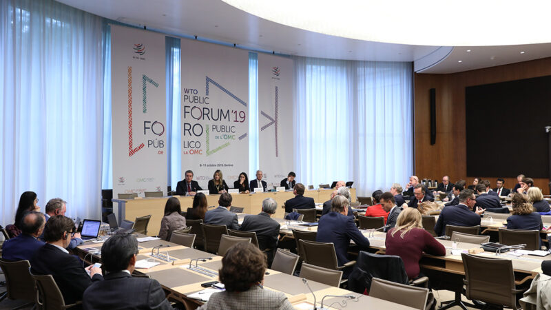 WTO Public Forum 2019 session 35 trade dialogues