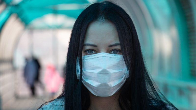 Covid girl in mask