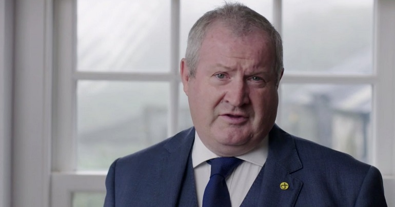 Ian Blackford speaking at SNP conference
