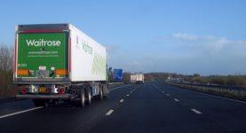 Waitrose lorry on road