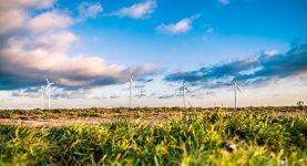 Wind turbines on the horizon